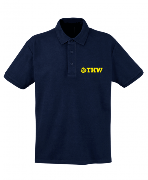 Polo-Shirt THW mit Bruststick