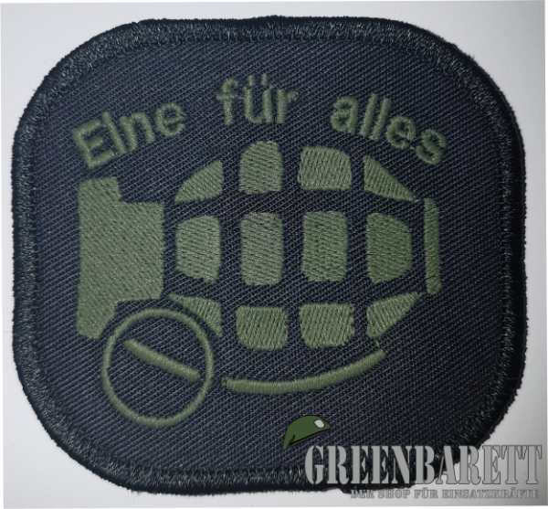 "Gestickter Patch ""Kleine Handgranate"""