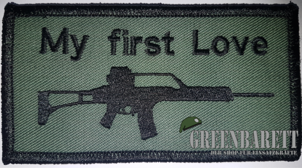 "Gestickter Patch ""My First love G36"""