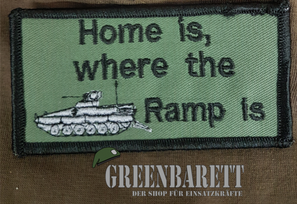"Gestickter Patch ""Home is"""