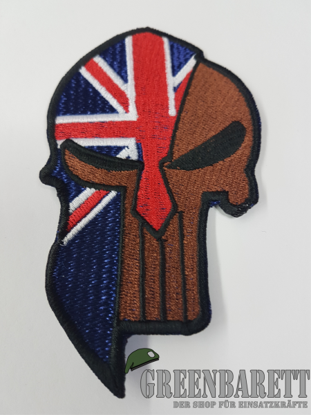 "Gestickter Patch ""Sparta-Punisher Britisch"""