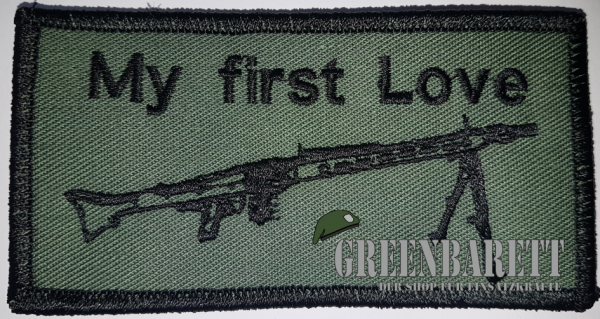 "Gestickter Patch ""My First love MG3"""